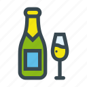celebration, champagne, drink, glass, party icon