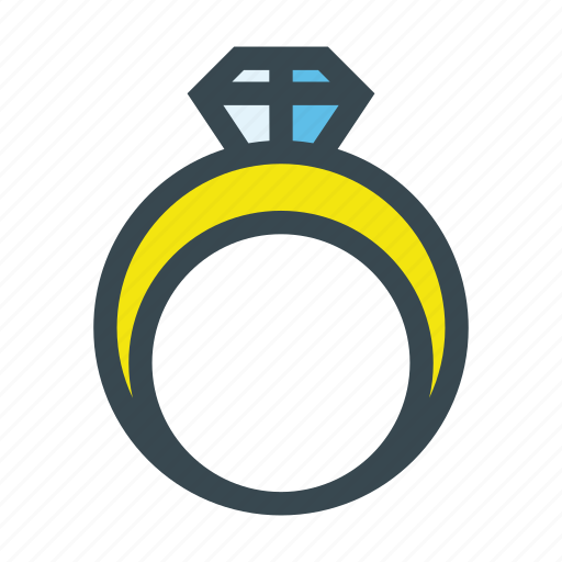 Diamond, gem, jewel, jewelry, ring, wedding icon - Download on Iconfinder