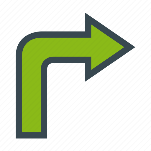 arrow, arrows, direction, right, turn icon