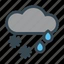 cloud, cold, rain, shower, snow, snowflake, winter icon