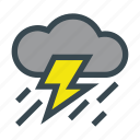 cloud, rain, storm, thunderbolt, thunderstorm icon