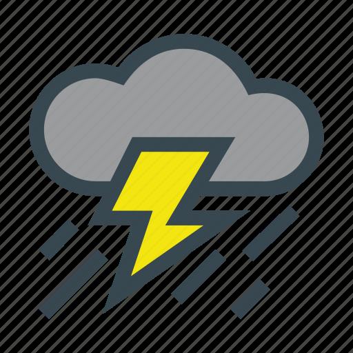 cloud, rain, storm, thunderbolt, thunderstorm icon