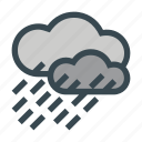 clouds, rain, storm, water icon