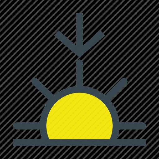 day, morning, sun, sunrise, up, weather icon