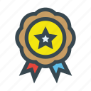 achievement, label, medal, star icon
