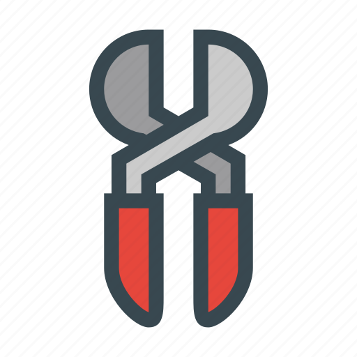 cutting, pincers, pliers, scissors, tool icon
