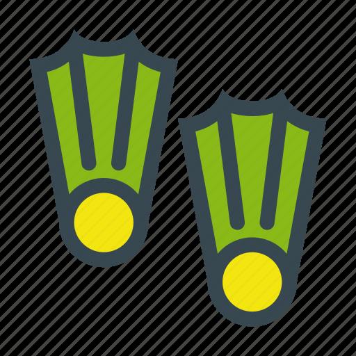 dive, equipment, fins, scuba, snorkeling icon