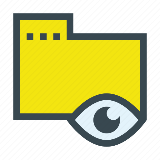document, eye, folder, read, readable, visible icon