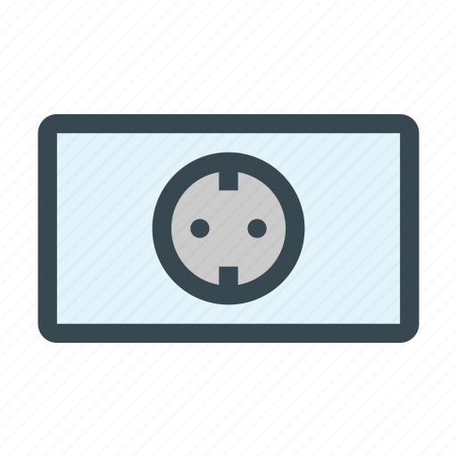 electric, electricity, europe, european, outlet, socket icon