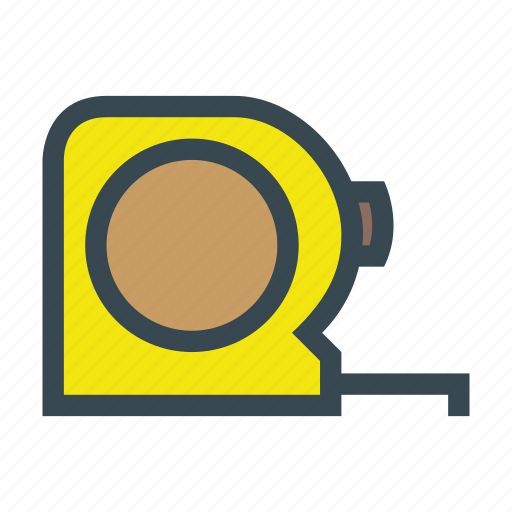 measure, measuring, metre, tape icon