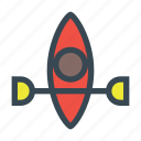 boat, canoe, kayak, paddle, sport