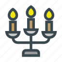candle, holder, lights, stand, three