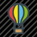 air, balloon, fly, hot, transport, transportation