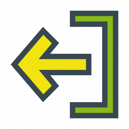 account, arrow, exit, log, out, sign icon