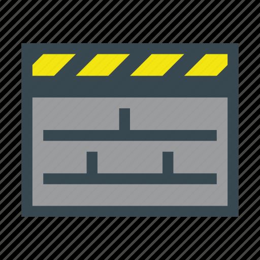 action, clapper, clapperboard, film, movie icon