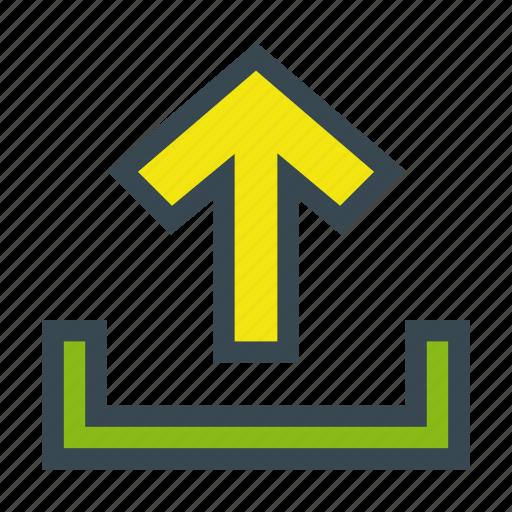 arrow, export, guardar, load, storage, up, upload icon