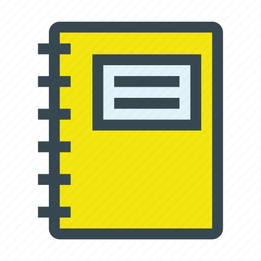 copybook, diary, notebook, paper, write icon