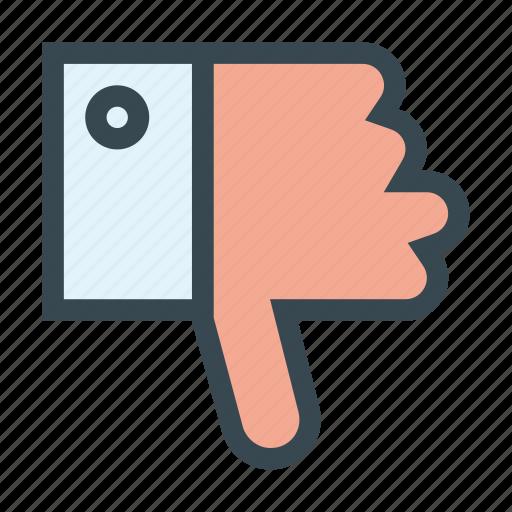 down, hand, thumb, thumbs, unlike, vote icon