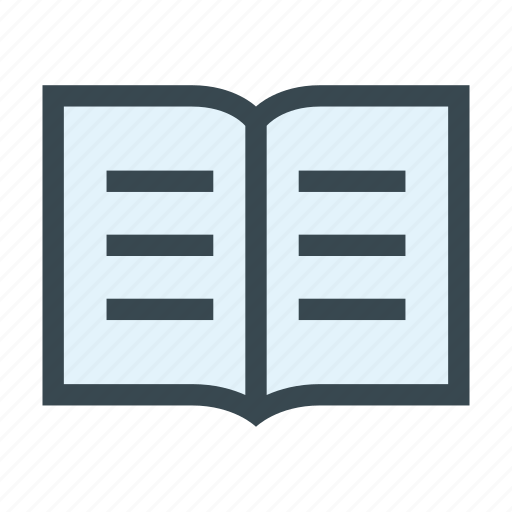 book, magazine, open, pages, reading icon