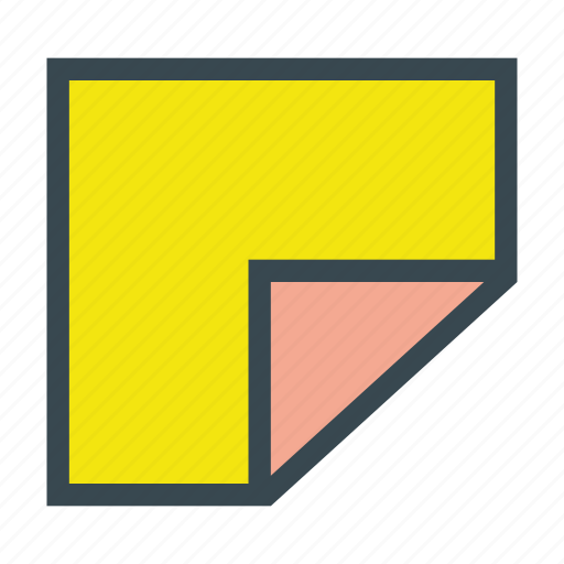 note, notes, paper, post, postit, sticky icon