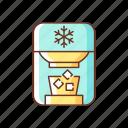 ice cube, freezer, appliance, refrigerator