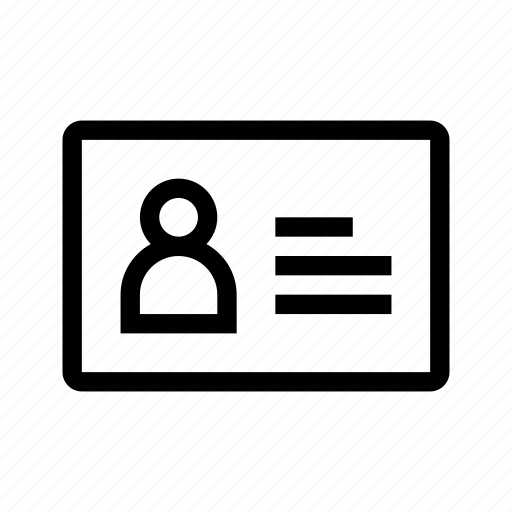 card, employee, id, identification icon