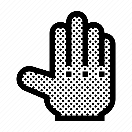 back, fingers, gesture, hand, open, touch icon
