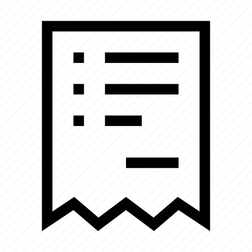 bill, document, ecommerce, invoice, online, ticket, voucher icon