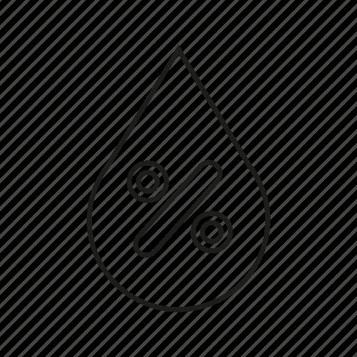 Drop, percentage, rain, water drop icon - Download on Iconfinder