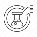 flask, lab, science tube icon