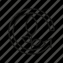 arrow, leaf, plant, renewable, seed icon