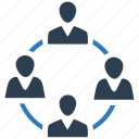 communication, connection, employee, meeting, team, teamwork icon