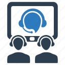 business, communication, conference, discussion, meeting, video icon