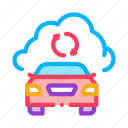 car, cloud, connection, dog, equipment, rescuer, smart