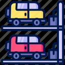 area, car, parking, transport