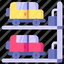 area, car, parking, transportation, vehicle