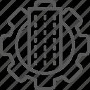 building, city, gear, smart, technology, town, wheel