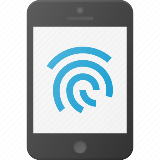 finger, id, identity, print, security, touch icon