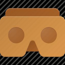 cardboard, glases, google, reality, virtual, vr icon