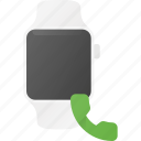 call, concept, smart, smartwatch, technology, watch icon