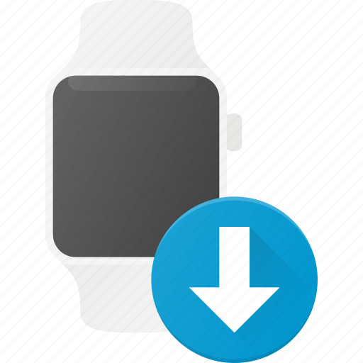 concept, download, smart, smartwatch, technology, watch icon