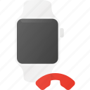 call, concept, end, smart, smartwatch, technology, watch icon