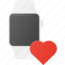 concept, love, smart, smartwatch, technology, watch icon
