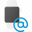 concept, mail, smart, smartwatch, technology, watch icon