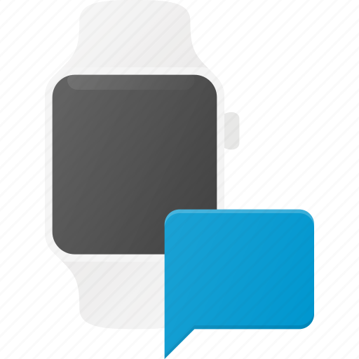 concept, message, smart, smartwatch, technology, watch icon