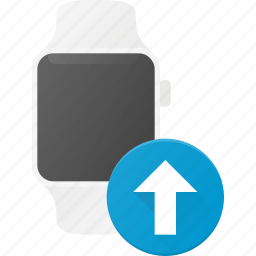 concept, smart, smartwatch, technology, upload, watch icon
