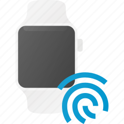 finger, id, smart, smartwatch, technology, touch, watch icon