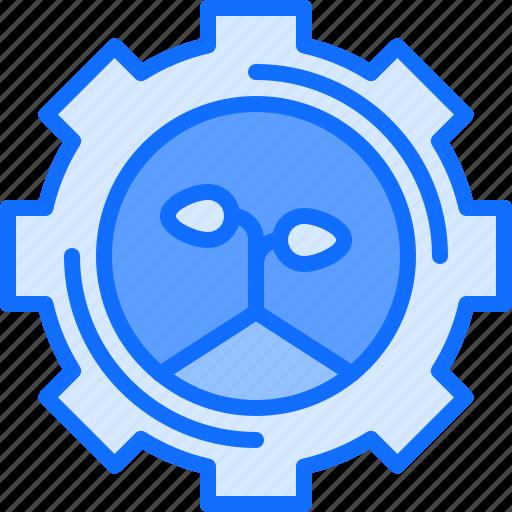 farm, farmer, garden, gear, optimization, settings, smart icon