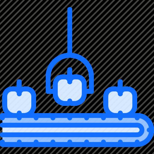 apple, conveyor, farm, farmer, garden, manipulator, smart icon