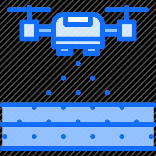 drone, farm, farmer, field, garden, seed, smart icon